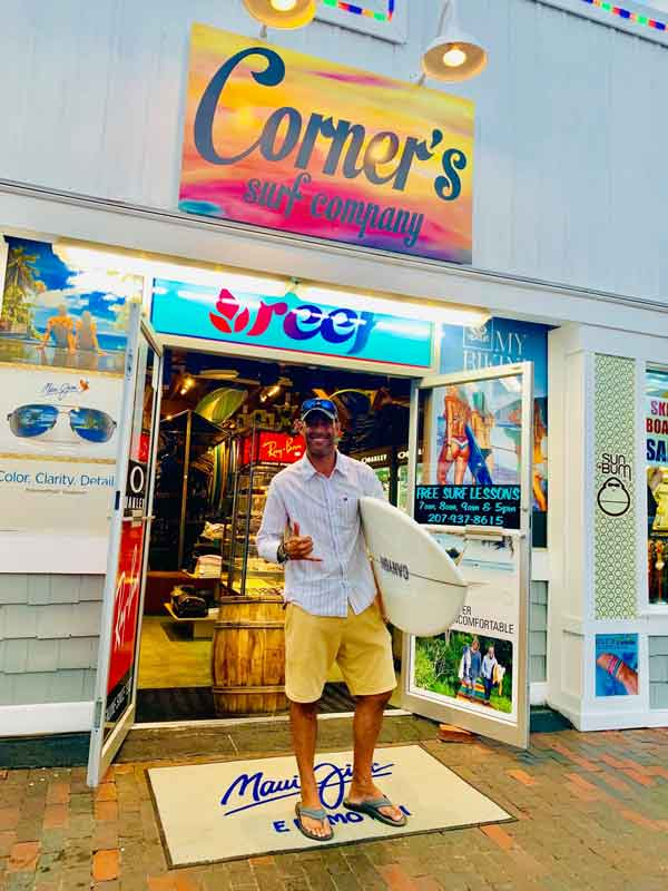 Corners-surf-shop surf instructor, FREE Surf Lessons, Old Orchard Beach, Maine